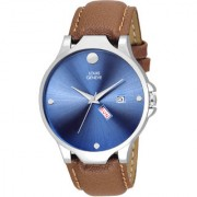 Louis Geneve Classic Day Date Analog Watch For Men ( LG-MW-DBR-BLUE-263 )
