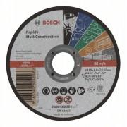 Диск за рязане, прав, Rapido Multi Construction, ACS 60 V BF, 115 mm, 1,0 mm, 1 бр., 2608602384, BOSCH