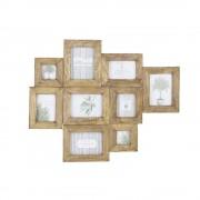 Maisons du Monde AGENAIS distressed mango wood multi-photo frame 69 x 84cm