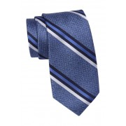 SAVILE ROW CO Silk Keap Stripe Tie NAVY