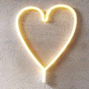 LED decorative light Heart, USB, battery-powered