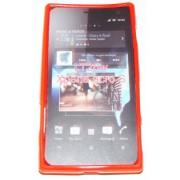 Силиконов гръб ТПУ за Sony Xperia acro S LT26w Червен