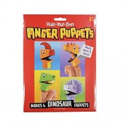 ShopNGift DIY Make-Your-Own Finger Puppet Makes 4 Dinosaur animal Puppets with googly eyes