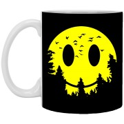 Smiley Moon - Doodle Art - 11 oz. White Mug - 81