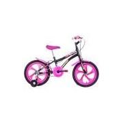 Bicicleta Infantil Houston Tina Aro 16 Monovelocidade - Preta/Rosa