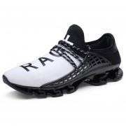 Zapatos Deportivos Amortiguación Para Unisex TK02 - Negro Y Blanco