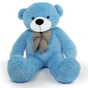 5 Feet Blue Teddy Bear with a Bow