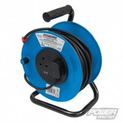 Cable Reel 240V Freestanding - 13A 25m 2 Socket 303754 5060012966171 PowerMaster
