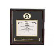 Signature Announcements University-of Idaho Marco de Diploma de graduación con Sello de Aluminio esculpido y Nombre de graduación, 40,6 x 40,6 cm, Color Dorado Brillante Caoba