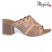 Papuci dama, din piele naturala 261104/Roz/Lucia