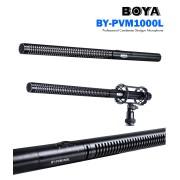 BOYA BY-PVM1000L Professional Condenser Shotgun Microphone 3-pin XLR Output for Canon Nikon Sony DSLR Cameras