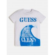 Guess T-Shirt Logo - Wit - Size: 12