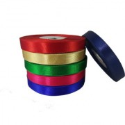 De-Ultimate (Set Of 6)Multicolor Satin Ribbons Roll of 18 Meter Each for Decorations Gift Wrapping Arts And Craftworks