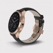 Vector Luna Smartwatch Rose Gold with Black Croco Strap Small Fit - луксозен Bluetooth тъч часовник за iOS и Android смартфони (черна кожена каишка)