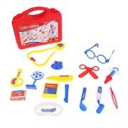 Tradico® Kids Pretending Doctor Medical Playing Set Case Education Kit Play Toy Pink