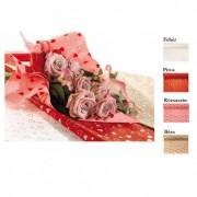 Csomagoló fólia szívvel 1X25m rózsaszín