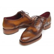 Paul Parkman Wingtip Goodyear Welted Oxford Shoes Smoke Brown 027-TAB