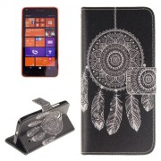 Dreamcatcher Windbell Pattern Leather Case with Holder & Card Slots & Wallet for Microsoft Lumia 640