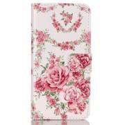 Apple Plånboksfodral med fina rosor, iPhone 5/5S/SE