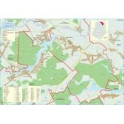 Harta Comunei Gruiu IF - sipci de lemn