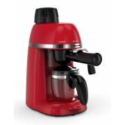 Presiune 3.5 bar, filtru din inox, boiler din aliaj de aluminiu, capacitate rezervor: 240 ml, optiuni de preparare: espresso si cappuccino, cana de sticla, putere: 800W