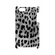 iPhone 5 en 5S Case panter print grijs