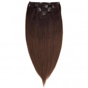 Rapunzel® Extensions Naturali Kit Clip-on Original 7 pezzi O2.3/5.0 Chocolate Brown Ombre 50 cm