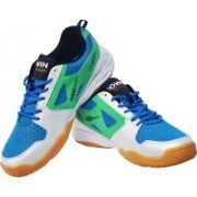 Gowin By Triumph Staunch White/Sky/Green Badminton Shoes(White, Blue, Green)