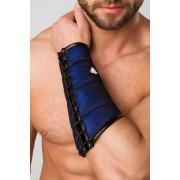 Maskulo Armored Color Under Forearm Guard Wallet Armband Royal Blue AC060