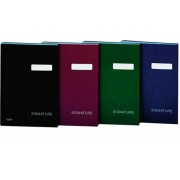 Aláírókönyv, A4, 19 elválasztó lappal, karton, DONAU, vörös (D869V)