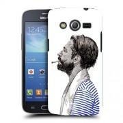 Husa Samsung Galaxy Core 4G LTE G386F Silicon Gel Tpu Model Abstract Man V1