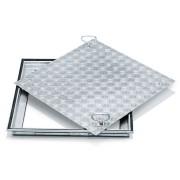 Zarges Schachtabdeckung aus Edelstahl mit Deckplatte 1000 mm x 1000 mm