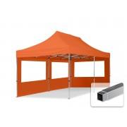 tendapro.it Gazebo Pieghevole ALU 3x6m Poliestere professionale con rivestimento PVC arancione Padiglione Richiudibile Automatico