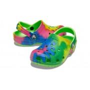 Crocs Classic Tie-Dye Graphic Klompen Kinder Neon Green 34