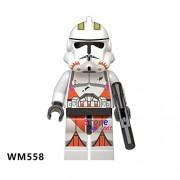 Generic 50pcs Star Wars Sandtrooper Clone Shock Trooper Stormtrooper Sergeant Droid Escape Robot Figure Building Block for Children Toy WM558