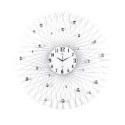 Luxusní obrovské paprskovité hodiny design JVD HJ66 s bar. kamínky - průměr 80cm