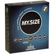 """Презервативи """"MY SIZE"""" 3 бр. 57 мм. за пениси 11.5 - 12 см."""