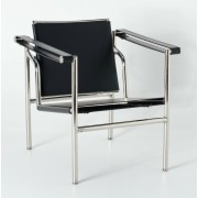 Replica Le Corbusier chair LC1 with black chinese leather
