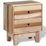 vidaXL Нощно шкафче, регенерирано дърво масив
