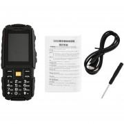 """Eh 2.4"""" Celular No.1 A9 Uso Rudo Bateria 4800 Caidas Agua Golpes IP67- Negro"""