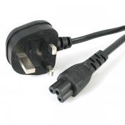 Startech 1m Laptop Power Cord - 3 Slot For Uk Plug - BS-1363 To C5 Clo