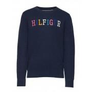 TOMMY HILFIGER Colorpop Sweater Sweat-shirt Tröja Blå TOMMY HILFIGER
