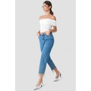 Trendyol Detailed High Waisted Jeans - High Rise - Blue