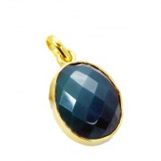 Riyo Green Onyx 18 Ct Ygold Plated Holiday Pendants L 1.2in Gppgon-30012