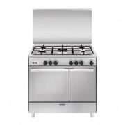 GLEM GAS UR965VI Cucina a Gas 90x60cm Porta Bombola 4 Fuochi + 1 Tripla Corona Centrale Inox