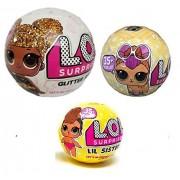 L.O.L. Surprise Bundle Lets Be Friends Glitter Doll, Lil Sisters and Pet - 3 LOL Surprises