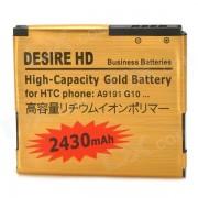Bateria DESEO HD de repuesto 2430mah para HTC A9190 - dorado