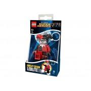 Breloc cu lanterna LEGO DC Super Heroes Harley Quinn - LGL-KE81