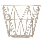 ferm LIVING - Wire Basket Large, grau