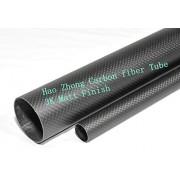 Generic 2 Pcs 15*13*500 mm Carbon fiber tube, Matt Finish Carbon Fiber Tube Tubing 15*13*500